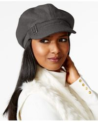 Nine West | Gray Boucle Newsboy Hat | Lyst