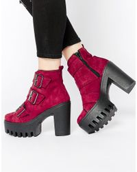 ASOS - Purple Erika Ankle Boots - Lyst