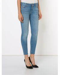Mother - Blue The Looker Ankle Fray Jean - Lyst