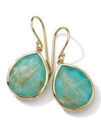 Ippolita | Blue 18k Gold Rock Candy Teardrop Lollipop Earrings | Lyst