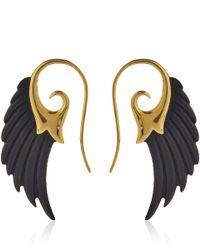 Noor Fares | Black Ebony Wing Earrings | Lyst