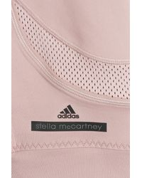 Adidas By Stella McCartney | Pink Three-Quarter Running Leggings | Lyst