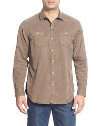 Tommy Bahama   Blue 'sea Twill' Island Modern Fit Flannel Shirt for Men   Lyst