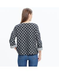 Madewell | Black Reversible Marled Dot Top | Lyst