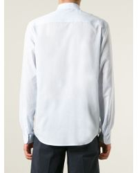AMI | Blue Classic Sheer Shirt for Men | Lyst