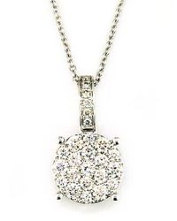 Effy | Bouquet Diamond Cluster Pendant In 14 Kt White Gold | Lyst