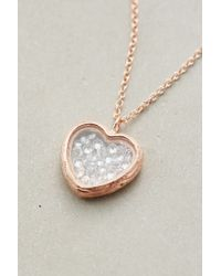 Catherine Weitzman | Pink Heart Shaker Pendant Necklace | Lyst