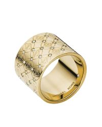 Michael Kors | Metallic Logo Barrel Ring | Lyst