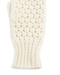 Forever 21 - Natural Fingerless Knit Mittens - Lyst