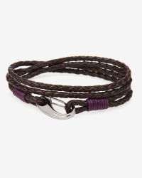 Ted Baker | Brown Woven Leather Bracelet for Men | Lyst