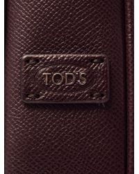 Tod's - Purple Grained-Leather Briefcase for Men - Lyst