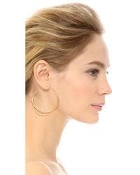 Alexis Bittar - Metallic Encrusted Orbiting Hoop Earrings - Gold - Lyst