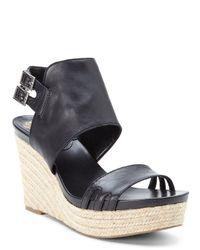 Vince Camuto - Black Temperton Wedge Sandals - Lyst