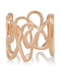 Repossi - Metallic White Noise 18-Karat Rose Gold Ring - Lyst