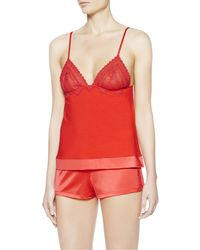 La Perla | Orange Vest Top And Shorts Pyjama Set | Lyst