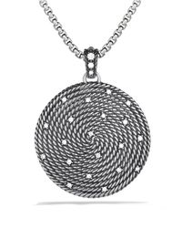 David Yurman | Metallic Cable Coil Large Pendant with Diamonds | Lyst