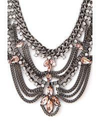 Forever 21 - Metallic Tiered Rhinestone Bib Necklace - Lyst