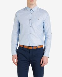 Ted Baker | Blue Classic Shirt for Men | Lyst