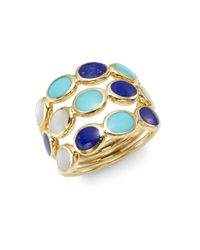 Ippolita | Metallic Polished Rock Candy Lapis, Turquoise, Mother-of-pearl & 18k Yellow Gold Ring | Lyst