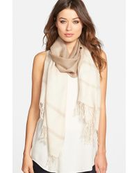 Eileen Fisher - Natural Ombre Alpaca & Silk Scarf - Lyst