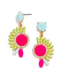 BaubleBar | Pink Electric Mohawk Drops | Lyst