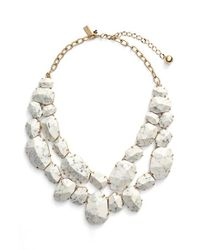 Kate Spade | White 'quarry Gems' Bib Necklace | Lyst