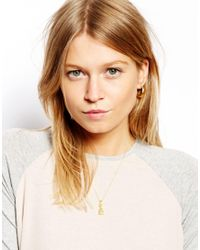 ASOS - Metallic Gold Plated Sterling Silver Pineapple Necklace - Lyst