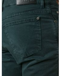 Z Zegna - Green Slim Fit Trousers for Men - Lyst