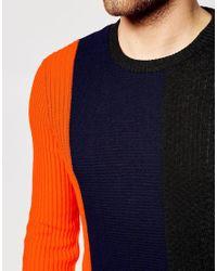 ASOS - Multicolor Jumper With Colour Block Design for Men - Lyst