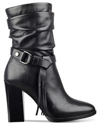 Guess | Black Tamsin Slouch Booties | Lyst