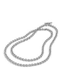 "David Yurman - Metallic Cable Rolo Chain Necklace, 18"" - Lyst"
