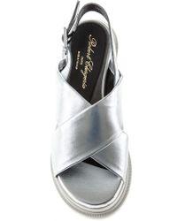 Robert Clergerie - White Crisscross Strap Sandals - Lyst