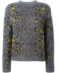 Erika Cavallini Semi Couture - Gray 'averill' Sweater - Lyst