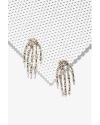 Nasty Gal | Metallic Hands On Studs | Lyst