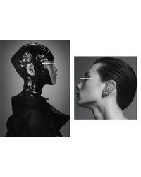 Lauren Klassen - Metallic Gold Diamond Nail Earrings - Lyst