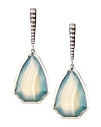 Stephen Dweck | Small Blue-green Agate Drop Earrings | Lyst