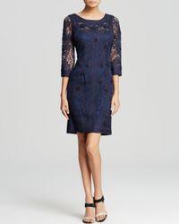 Sue Wong - Blue Dress - Three Quarter Sleeve Soutache - Lyst