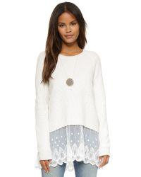Raga - White Night Drive Sweater - Lyst