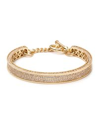 Eddie Borgo | Metallic Small Zenith Pave Crystal Cuff Bracelet | Lyst