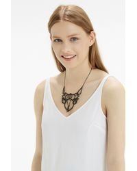 Oasis | Black Organic Link Necklace | Lyst