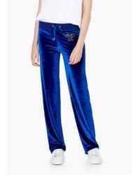 Mango - Blue Flowy Trousers - Lyst