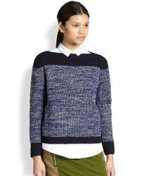 Marc By Marc Jacobs - Purple Julie Woolcashmere Sweater Skipper Blu Multi Xsmall - Lyst