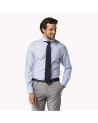Tommy Hilfiger | Blue Cotton Dobby Fitted Shirt for Men | Lyst