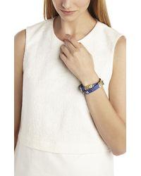 BCBGMAXAZRIA | Blue Icon-studded Wrap Bracelet | Lyst