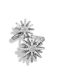 David Yurman | Metallic Starburst Open Ring With Diamonds | Lyst