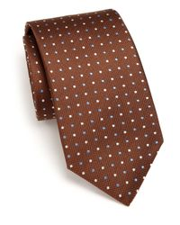 Eton of Sweden | Brown Polka Dot Silk Tie for Men | Lyst