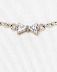 "Carolee - Metallic Bow Illusion Necklace, 16"" - Lyst"