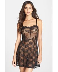 Band Of Gypsies | Black Sheer Lace Chemise | Lyst