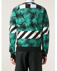 MSGM - Black Palm Tree Print Sweatshirt for Men - Lyst