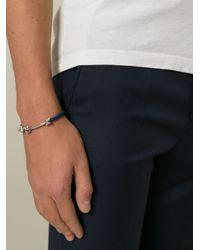 Ferragamo - Blue Knotted Bracelet for Men - Lyst